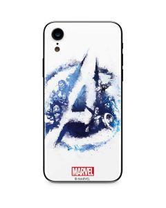 Avengers Blue Logo iPhone XR Skin