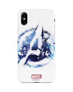 Avengers Blue Logo iPhone XS Lite Case