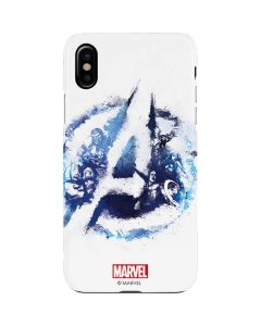 Avengers Blue Logo iPhone XS Max Lite Case