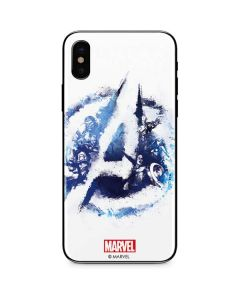 Avengers Blue Logo iPhone XS Skin