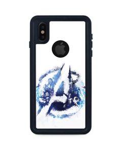 Avengers Blue Logo iPhone XS Waterproof Case