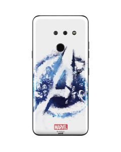 Avengers Blue Logo LG G8 ThinQ Skin
