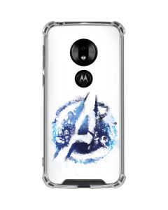 Avengers Blue Logo Moto G7 Play Clear Case