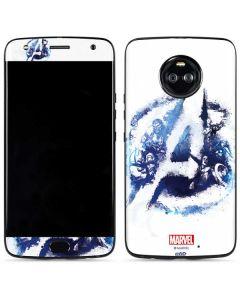 Avengers Blue Logo Moto X4 Skin