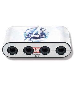 Avengers Blue Logo Nintendo GameCube Controller Adapter Skin