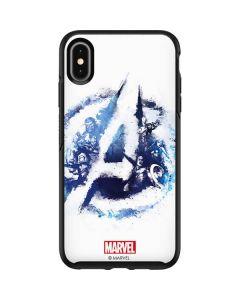 Avengers Blue Logo Otterbox Symmetry iPhone Skin