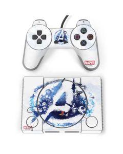 Avengers Blue Logo PlayStation Classic Bundle Skin