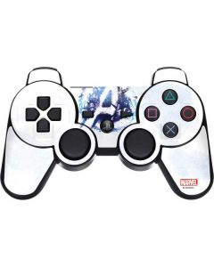 Avengers Blue Logo PS3 Dual Shock wireless controller Skin