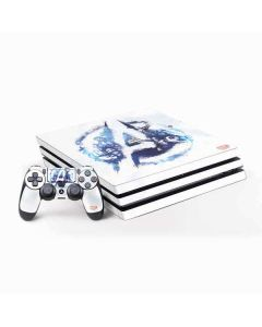 Avengers Blue Logo PS4 Pro Bundle Skin