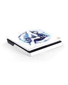 Avengers Blue Logo PS4 Slim Skin