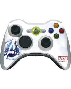 Avengers Blue Logo Xbox 360 Wireless Controller Skin