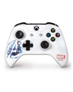 Avengers Blue Logo Xbox One S Controller Skin