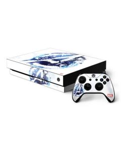 Avengers Blue Logo Xbox One X Bundle Skin