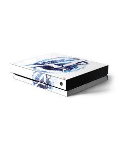 Avengers Blue Logo Xbox One X Console Skin