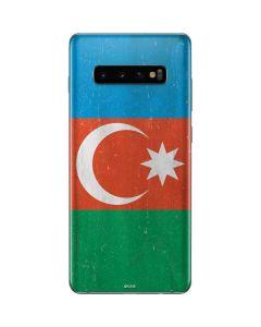 Azerbaijan Flag Distressed Galaxy S10 Plus Skin