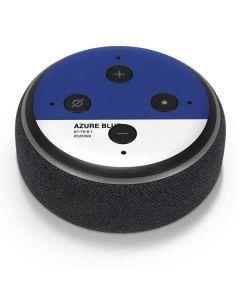 Azure Blue Amazon Echo Dot Skin