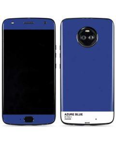 Azure Blue Moto X4 Skin
