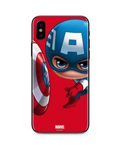 Baby Captain America iPhone X Skin