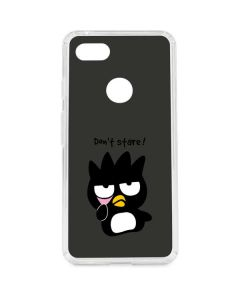 Badtz Maru Dont Stare Google Pixel 3 XL Clear Case