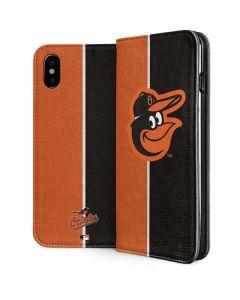 Baltimore Orioles Split iPhone XS Folio Case