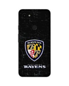 Baltimore Ravens - Alternate Distressed Google Pixel 3a Skin