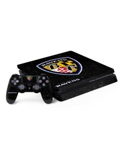 Baltimore Ravens - Alternate Distressed PS4 Slim Bundle Skin