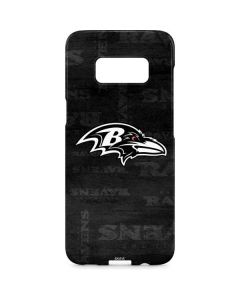 Baltimore Ravens Black & White Galaxy S8 Plus Lite Case