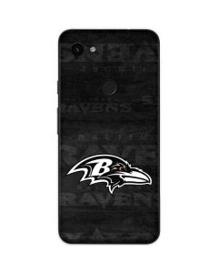Baltimore Ravens Black & White Google Pixel 3a Skin