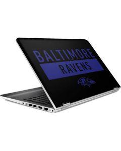 Baltimore Ravens Black Performance Series HP Pavilion Skin