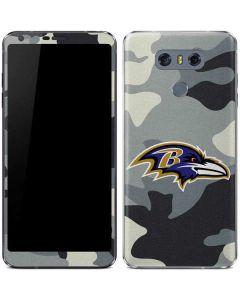 Baltimore Ravens Camo LG G6 Skin