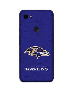 Baltimore Ravens Distressed Google Pixel 3a Skin
