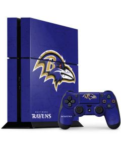 Baltimore Ravens Distressed PS4 Console and Controller Bundle Skin