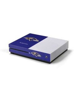 Baltimore Ravens Distressed Xbox One S Console Skin