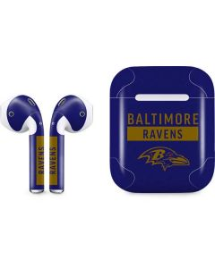 Baltimore Ravens Purple Performance Series Apple AirPods Skin