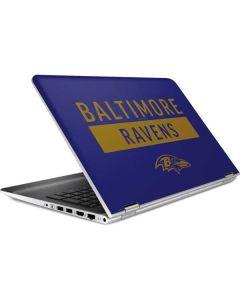 Baltimore Ravens Purple Performance Series HP Pavilion Skin