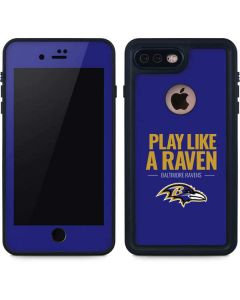 Baltimore Ravens Team Motto iPhone 8 Plus Waterproof Case