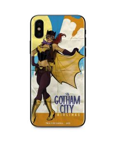 Batgirl- Fly Gotham City Airlines iPhone XS Max Skin