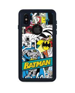 Batman Comic Book iPhone XS Waterproof Case