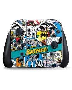 Batman Comic Book Nintendo Switch Joy Con Controller Skin