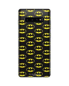 Batman Logo All Over Print Galaxy S10 Plus Skin