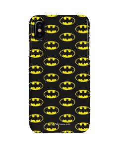 Batman Logo All Over Print iPhone XS Max Lite Case