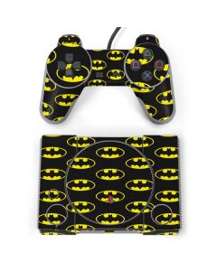 Batman Logo All Over Print PlayStation Classic Bundle Skin