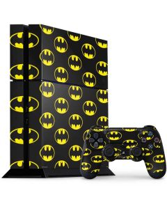 Batman Logo All Over Print PS4 Console and Controller Bundle Skin