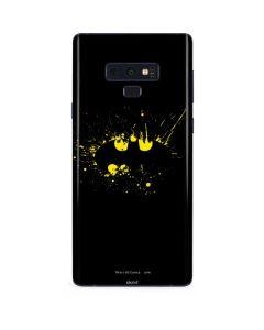 Batman Logo Yellow Splash Galaxy Note 9 Skin