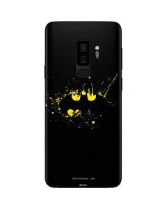 Batman Logo Yellow Splash Galaxy S9 Plus Skin