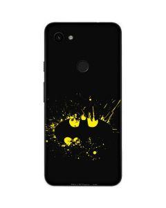 Batman Logo Yellow Splash Google Pixel 3a Skin