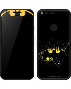 Batman Logo Yellow Splash Google Pixel Skin
