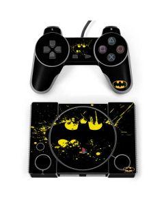 Batman Logo Yellow Splash PlayStation Classic Bundle Skin