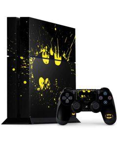Batman Logo Yellow Splash PS4 Console and Controller Bundle Skin