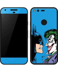 Batman vs Joker - Blue Background Google Pixel Skin